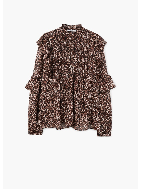 2d11dc29276ec8 Ruffled Leopard Blouse | Endource