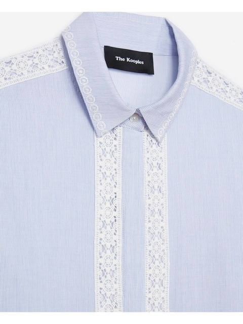 4c76d61ded Striped Cotton and Lace Shirt   Endource
