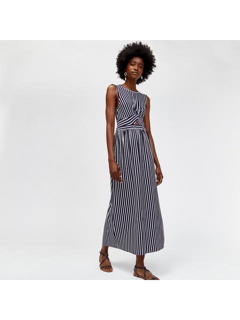 fdf94df71917d Stripe Twist Front Maxi Dress | Endource