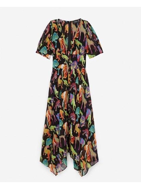 c06b5175f59 Jungle Print Long Loose Dress | Endource