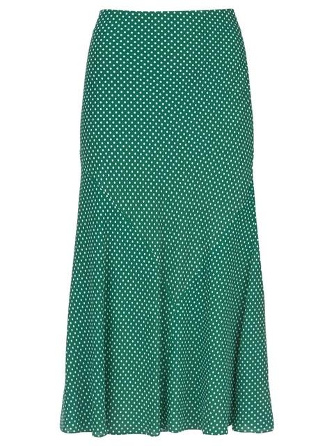 6f18ab8eb3 Spotted Midi Skirt