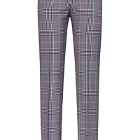 Regular-fit checked cigarette trousers with contrast stripes HUGO BOSS