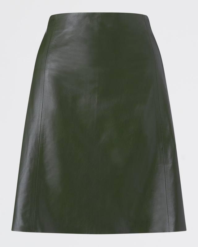 8690c9342d A-Line Leather Skirt   Endource