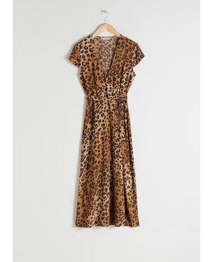 Leopard Midi Wrap Dress by   Other Stories 899fc3ba8