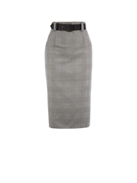 a709d25e8 Checked Pencil Skirt | Endource