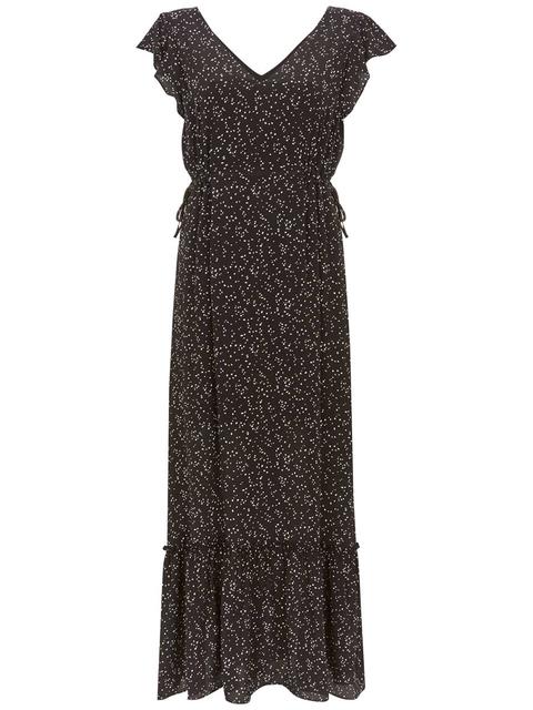 484bfe49b1 Spot Ruffled Maxi Dress   Endource