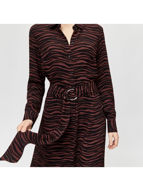 e5b4300311 Tiger O-Ring Midi Shirt Dress