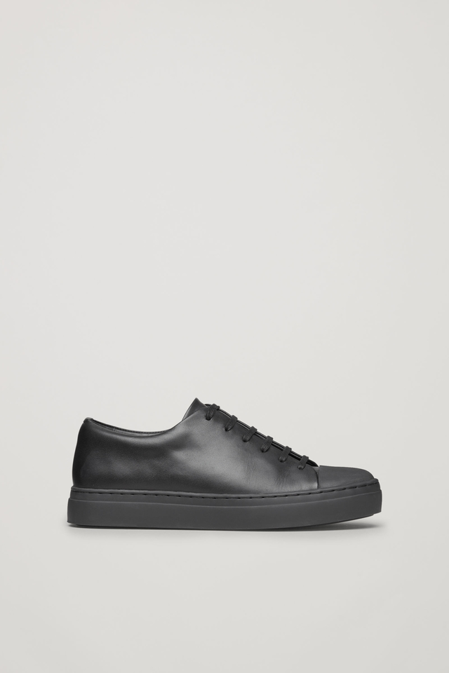 4ac1ffab1078 Rubber-detailed Leather Sneakers