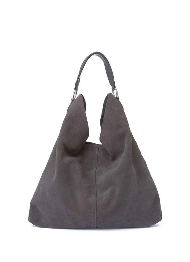 5337f8e1ddb3 Brand new Grey Suede Handbag  RD48 – Advancedmassagebysara