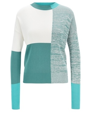 3d82d3b7e Regular-Fit Sweater with Intarsia Colour Block by Hugo Boss
