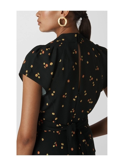 dd624fad1a Micro Floral Tie Back Jumpsuit