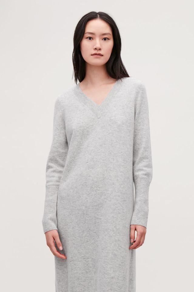 6dc9eaba2c8 Long Wool Knit Jumper Dress
