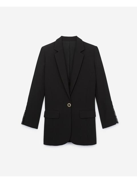 2b54e26981 Blazer with Lace Details | Endource