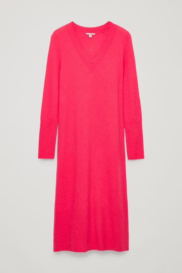 51c9886b69a Long Wool-Knit Jumper Dress