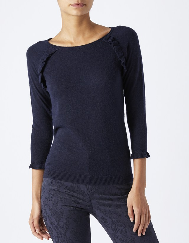 Cheap Monsoon Demelza Ruffle Raglan Jumper on sale