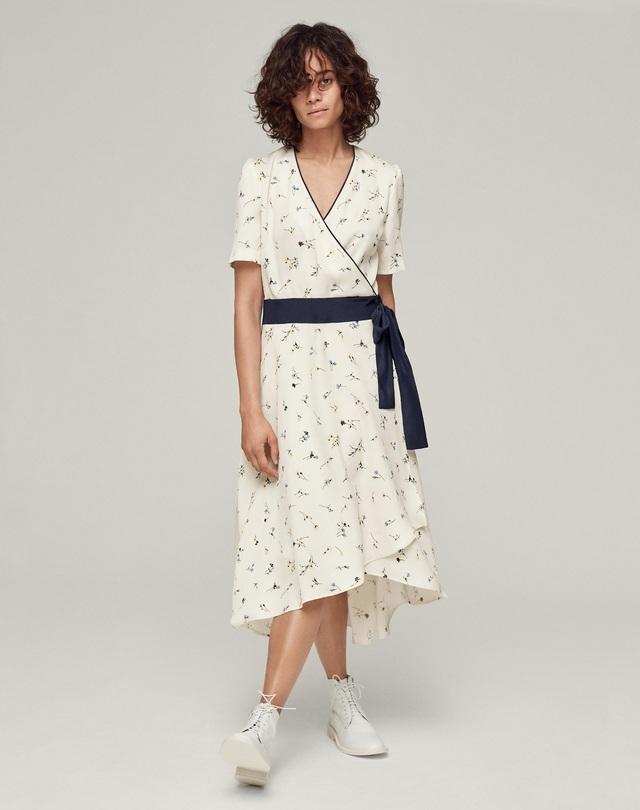 197694d801d5 Floral Wrap Midi Dress | Endource