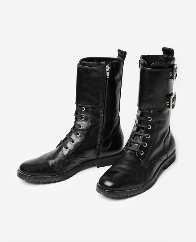 The Kooples Leather Buckled Boots RBRRSUQa