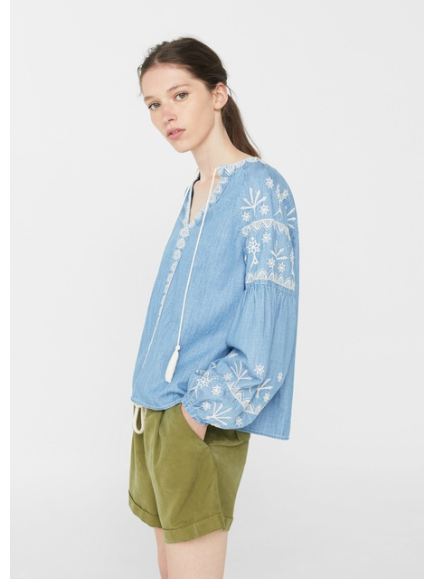 1136f699fe4d10 Embroidered Boho Blouse