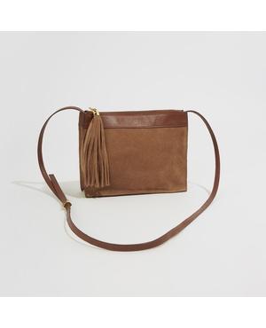 60df0f1e29828e Suede Crossbody Bag by Warehouse