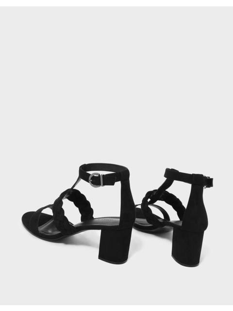 766ae06d6be2 Braid Detail Caged Heeled Sandals
