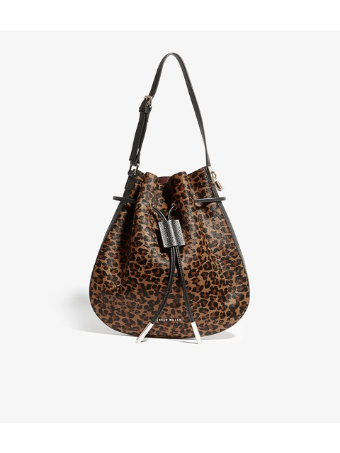 00f605671b Leopard Print Drawstring Bag | Endource