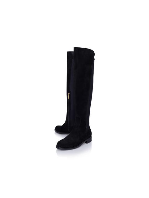 c22f2b6903d7 Walnut Low Heel Knee Boots