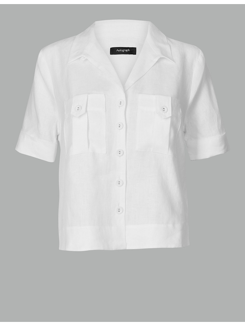 e1cba21aaf Pure Linen Short Sleeve Shirt   Endource