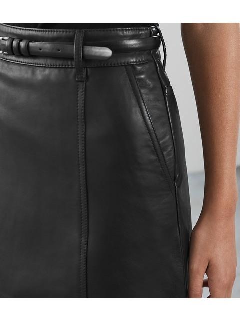 1227801419ba Mimi Leather Mini Skirt