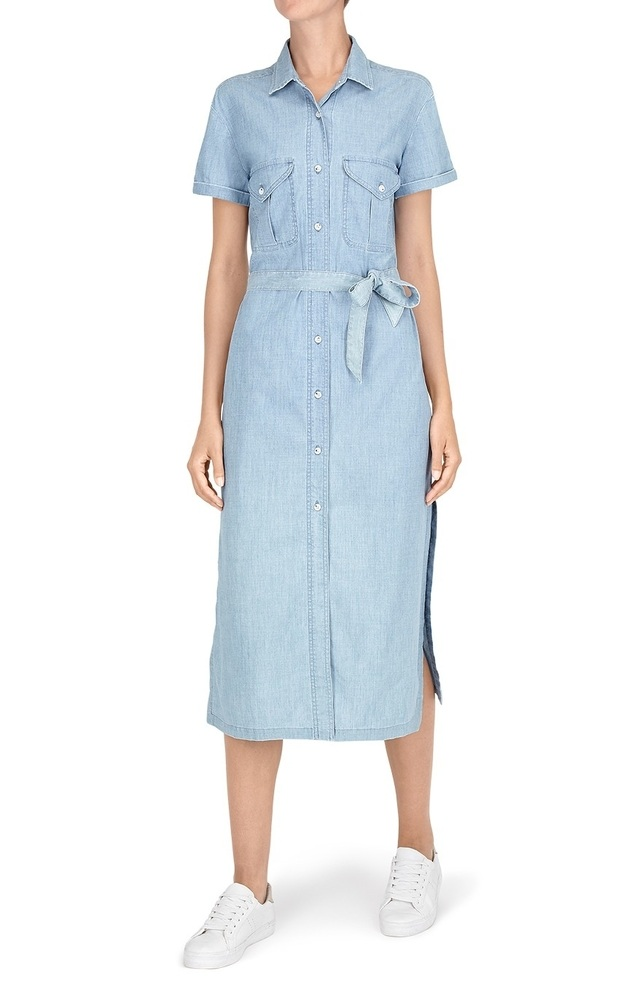 Chambray shirt dress endource for Chambray 7 s