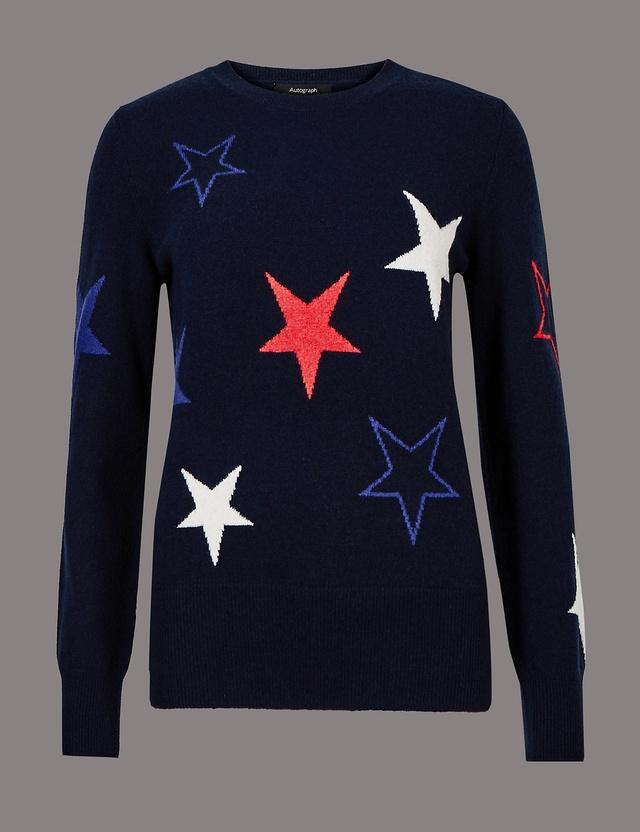 Cashmere embroidered jumper endource