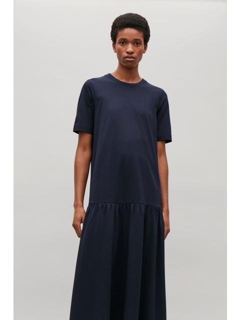 a58d91c4e673 Frilled Hem Cotton Dress