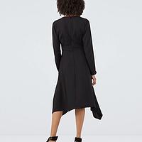 Gordon Black Crepe Wrap Dress Finery GiY03t