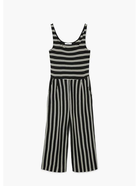 9e5b04929a77 Cropped Striped Jumpsuit