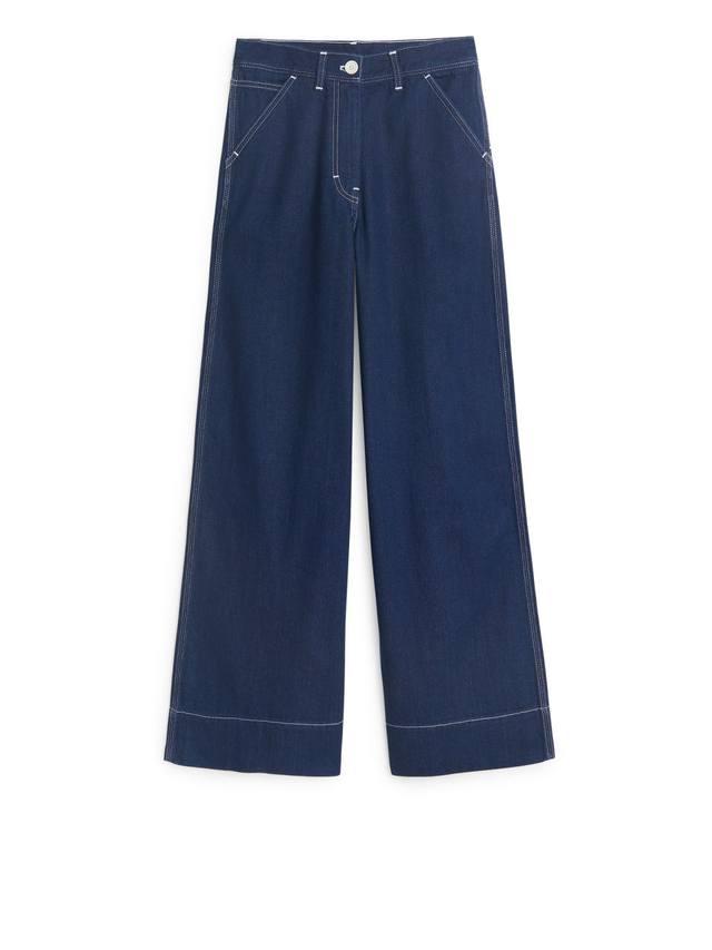 Wide Denim Trousers  589b3f851499