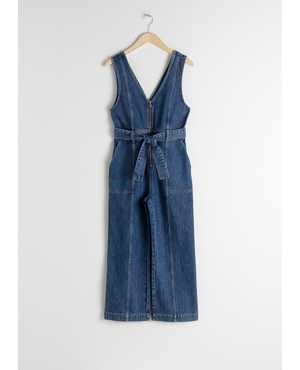 6b5ff220eb7 Belted Denim Jumpsuit by   Other Stories