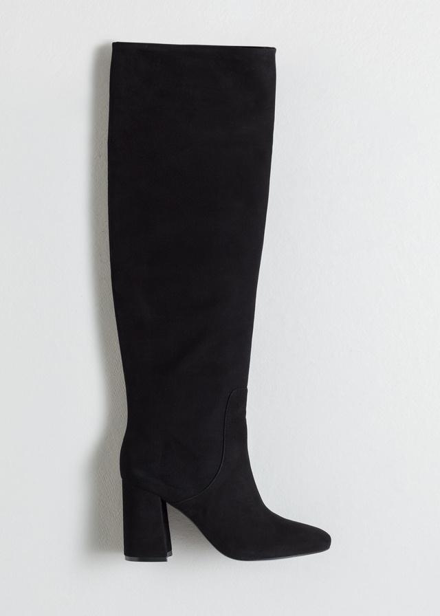 5e256a0d330 Knee High Suede Boots