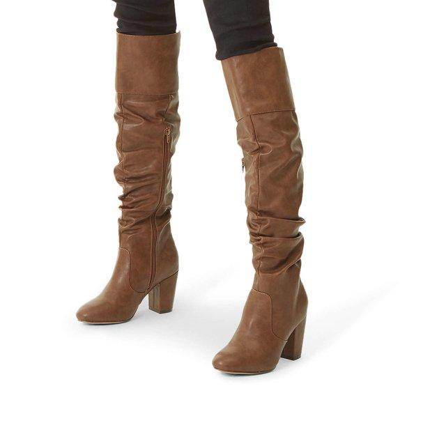 5c1cbc012be Healey Block Heel High Leg Boots