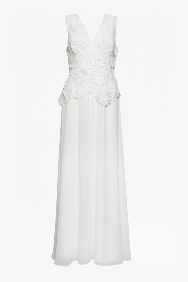 2a0b8227ed12f Manzoni 3D Floral Lace Maxi Dress | Endource