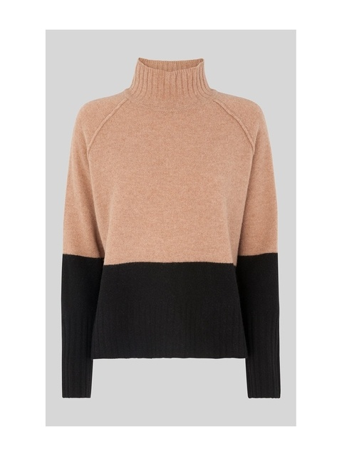 5686eac65d92e Colour Block Funnel Neck Knit