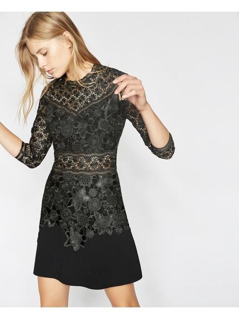 ddc188234cf Short Waxed Lace Dress | Endource
