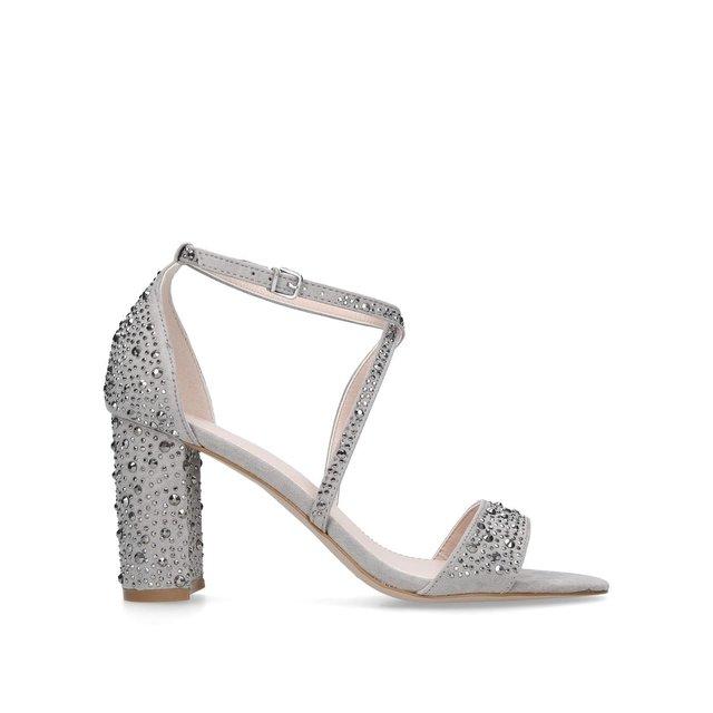 Black 'Loyalty' embellished mid heel sandals cheapest Hd0CZ