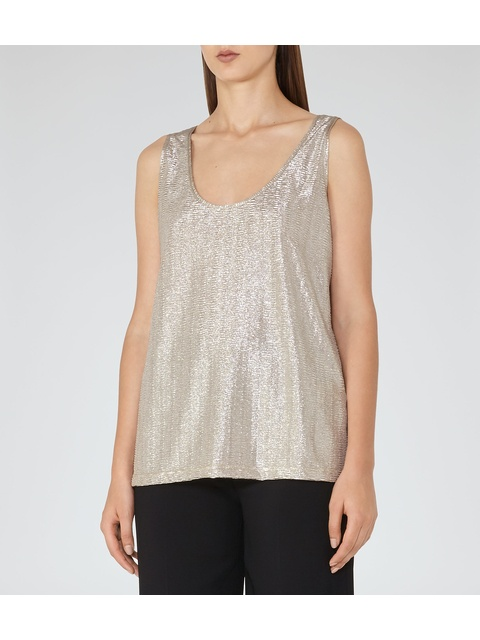 0ee28443745e3 Gemma Metallic Tank Top