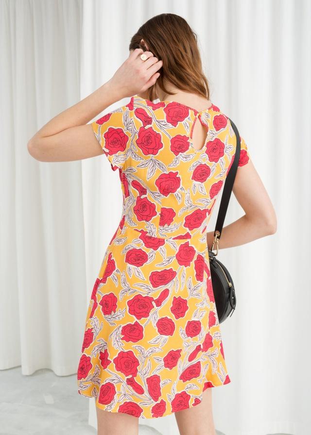 Floral Printed Skater Dress  48142c09c
