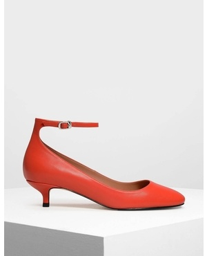 887ad6d511c Round Toe Ankle Strap Pumps by Charles   Keith