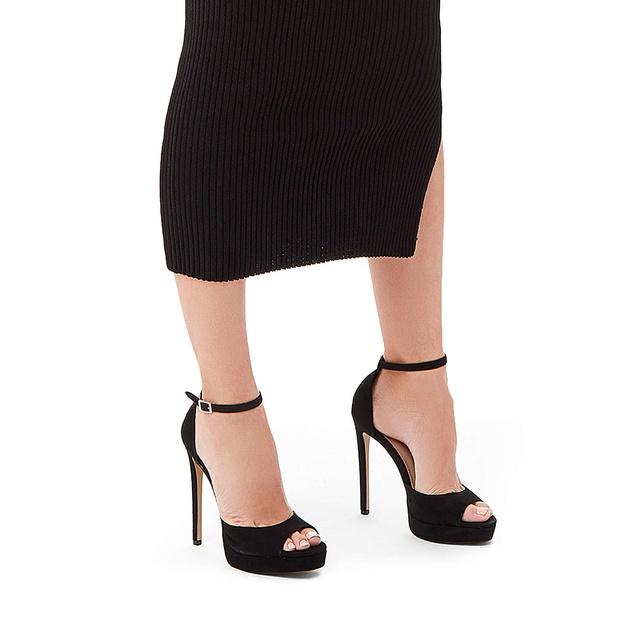 35a97b3821 Lopez Metallic Gold Stiletto Heel Sandals | Endource