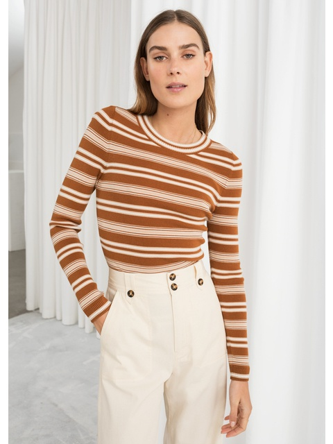 53be6e1d0 Fitted Striped Top | Endource