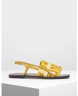 246ef4f83 Kurt Geiger · Woven Slingback Sandals by Charles & Keith