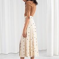 10adb0186 Satin A-Line Midi Skirt | Endource