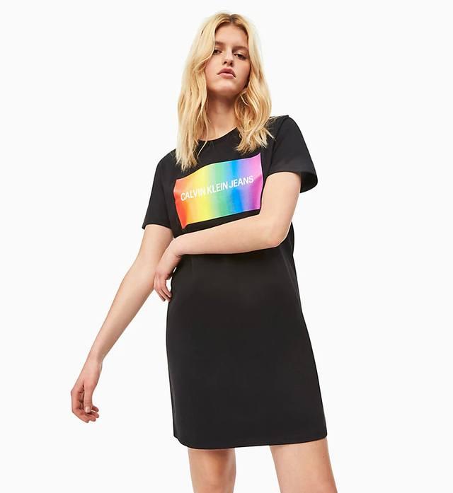 d3d9289ecd46e Rainbow Logo T-shirt Dress | Endource