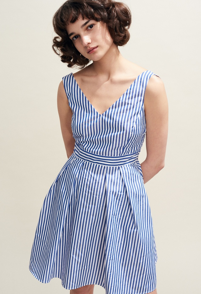 29d02060551 Iconic Striped Open-Back Dress with Bow